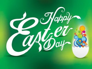 happy easter day text background