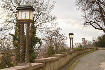 Old lamps at upper town, Zagreb, Croatia