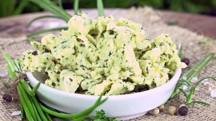 Homemade Herb Butter (not loopable 4K UHD footage)