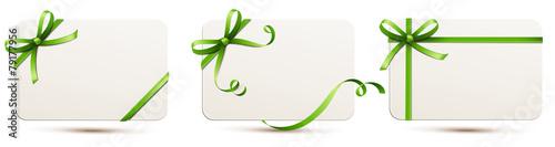 Karten-Set mit grüner Schleife