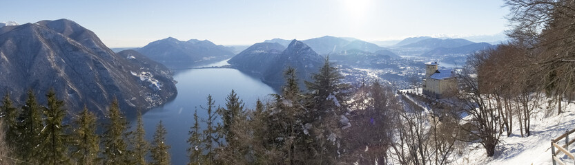 View of the gulf of Lugano