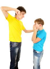 Teenager threaten Kid