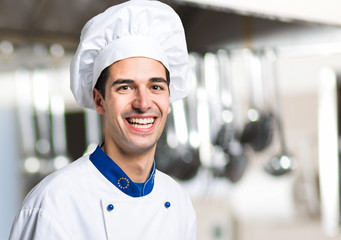 Young chef in a kitchen