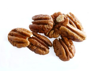 grains of brown american walnuts