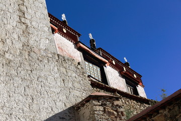 Whitewashed walls. Drepung monastery-Tibet. 1201