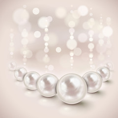 White pearls background