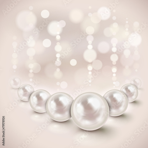 White pearls background - 79178926
