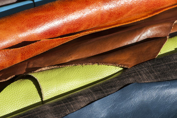 Coined in rolls processed color leather for leather manufacture