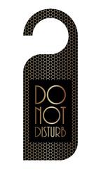 please do not disturb sign with metallic grid design