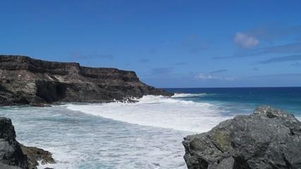 fuerteventura cliffs and waves