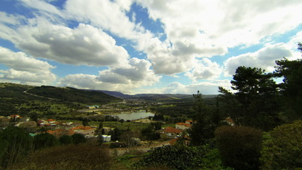 Spring landscape time-lapse