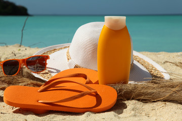 Sun Protection on a Beach
