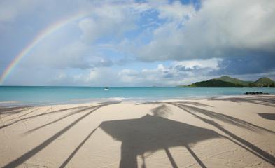 Rainbow over carrabien sea