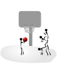 basketbol oynayan çocuklar