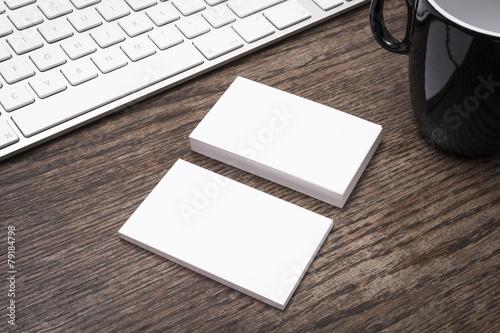 Blank business card mockup - 79184798