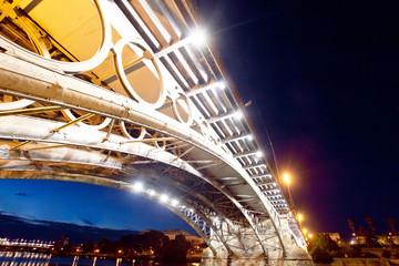 Bridge of Triana in Sevilla at night, Spain