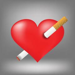 cigarette and heart
