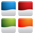 Rounded Square Button Icon Set