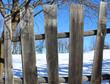 Old vintage wooden fence