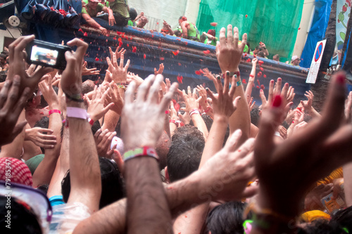 Foto op Aluminium Uitvoering Tomatina festival in Bunol