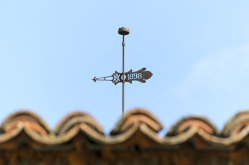 Weather-vane with 1898 age engraved