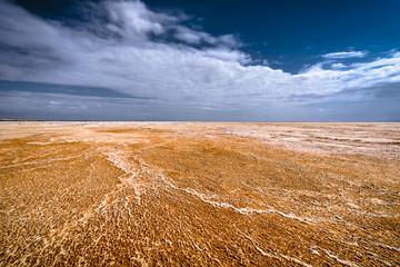 Désert de sel rouge en Ethiopie