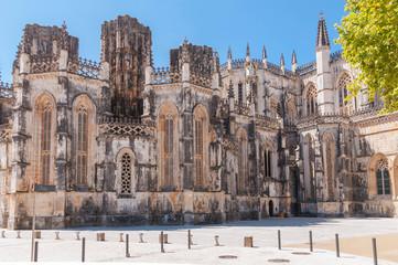 Facade of Batalha Monastery in Portugal