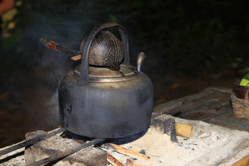Stove and kettle