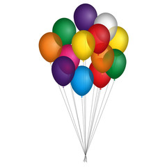 Palloncini colorati legati insieme
