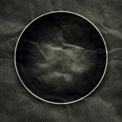 Black Paper round frame