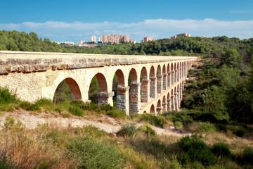 Aqueduct de les Ferreres in Tarragona. Catalonia, Spain