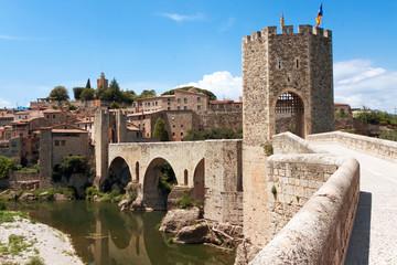 Medieval bridge. Besalu, Catalonia