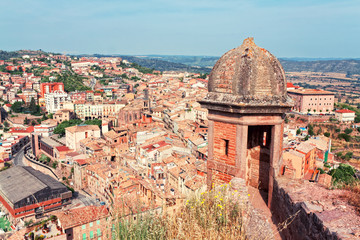 view of Cardona from castle, Catalonia