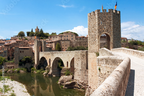 Medieval bridge. Besalu, Catalonia - 79190167