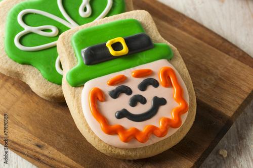 Papiers peints Boulangerie Green Clover St Patricks Day Cookies