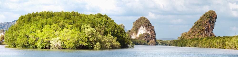 Kanaab Nam Cliff, Krabi Town, Thailand.