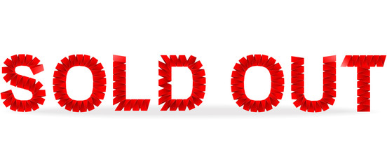 Sold out folded paper sign