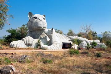 Sculpture near  temple tiger tigers (Wat Pha Luang Ta Bua