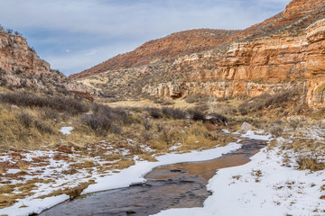 stream in sandstone canyon
