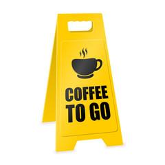 warnaufsteller coffee to go I