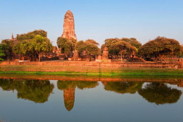 Phra Ram temple ruins in province of Ayutthaya, Thailand