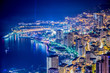 Night view of Monaco from mountain - 79194365