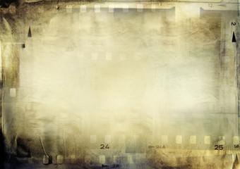 Film frames on grunge paper