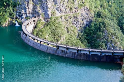 Foto op Canvas Dam Speccheri dam, Alps, province of Trentino-Alto Adiges, Bolzano,