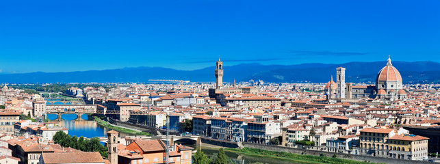 Panorama View of Florence, Tuscany, Italy
