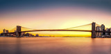 Brooklyn Bridge panorama at sunset - 79195193