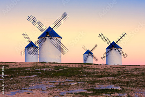 Juliste windmill in Campo de Criptana, La Mancha, Spain