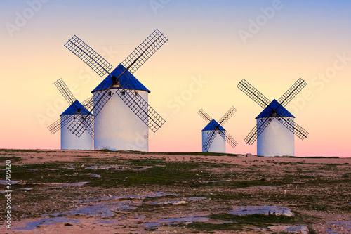 Plakát, Obraz windmill in Campo de Criptana, La Mancha, Spain