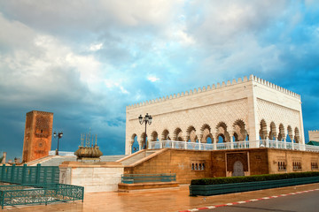 mausoleum of Muhammed and Tour Hassan, Rabat, Morocco