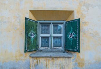 Typical Window Engadine Switzerland